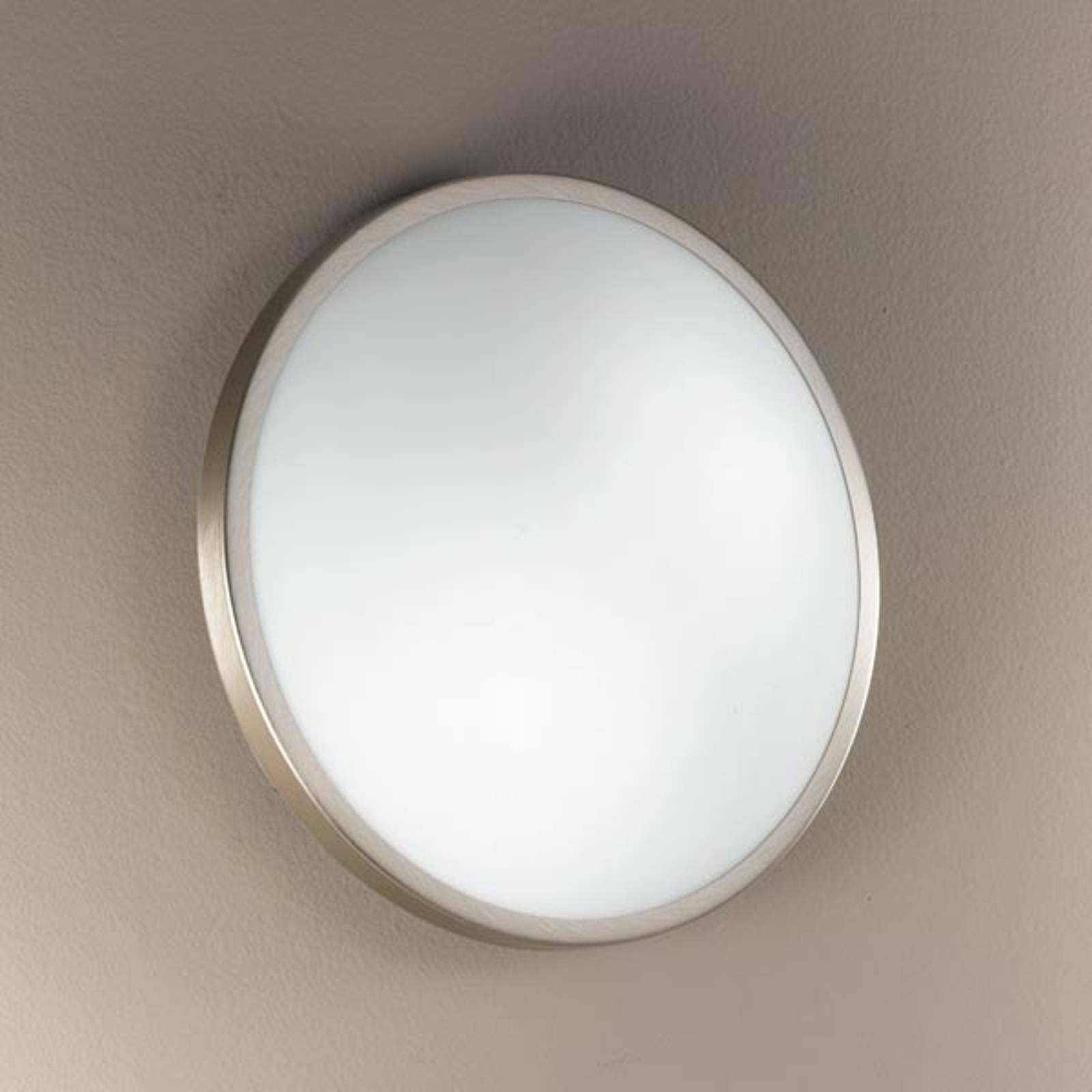 PLAZA lampa sufitowa i ścienna 21,5cm nikiel