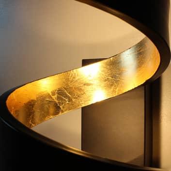 LED-golvlampa Helix i svartguld