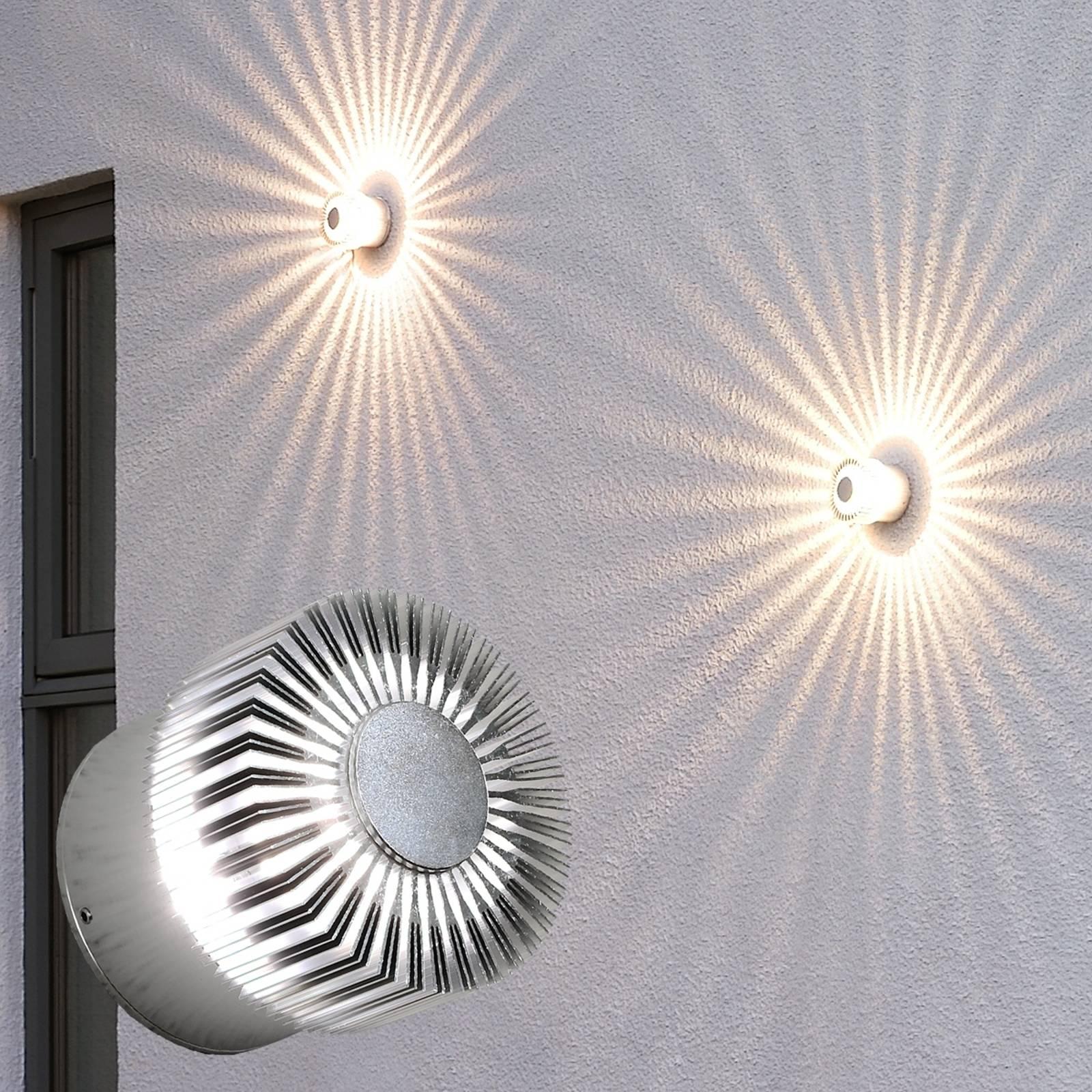 Efektowna zewnętrzna lampa ścienna LED Monza