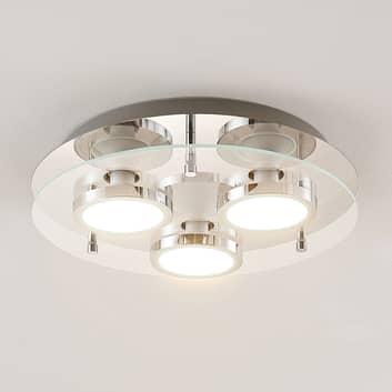 Lindby Gabryl LED stropní světlo, třížár., kulaté
