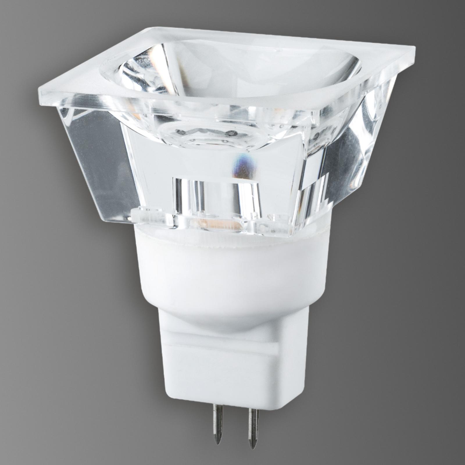 GU5,3 3W LED-reflektor Diamond, firkantet