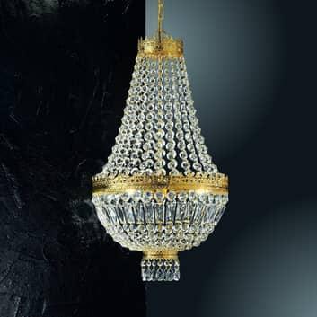 24karátové zlacené závěsné světlo Cupola