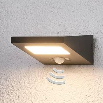 Nedadstrålende solcelle udendørs væglampe Felin
