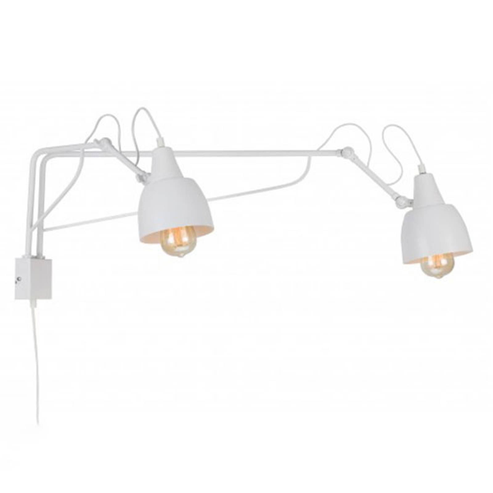 Bilde av 1002 Vegglampe Med Plugg, 2 Lyskilder, Hvit
