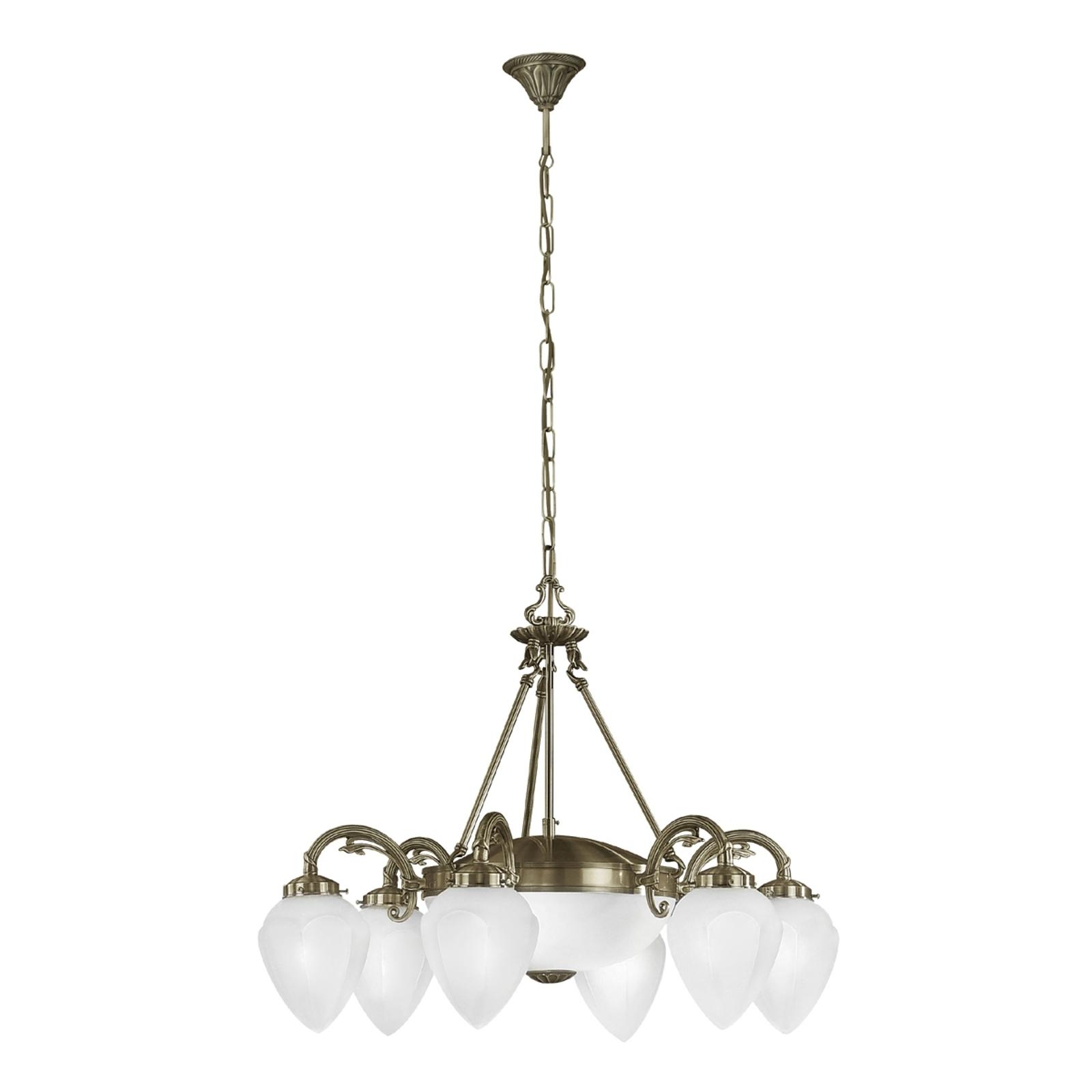 Lámpara colgante de estilo clásico Impery 8 llamas