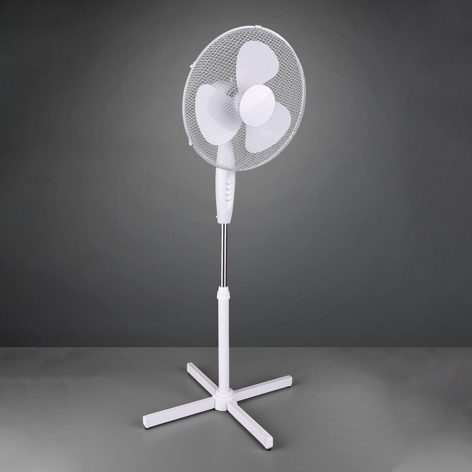 Staande ventilator Bergen, hoogteverstelbaar, wit