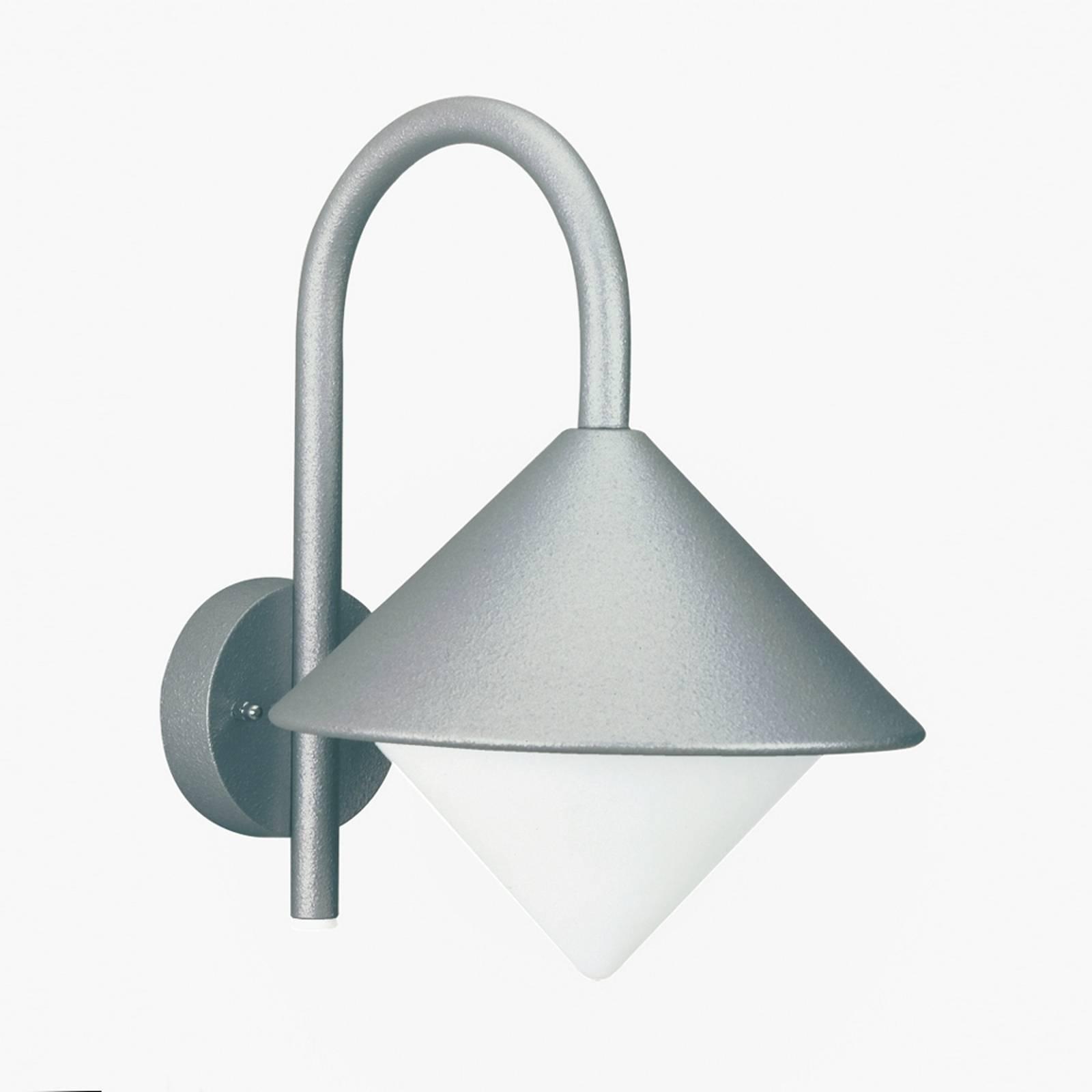 Fraai gevormde buitenwandlamp Julieta zilverkl