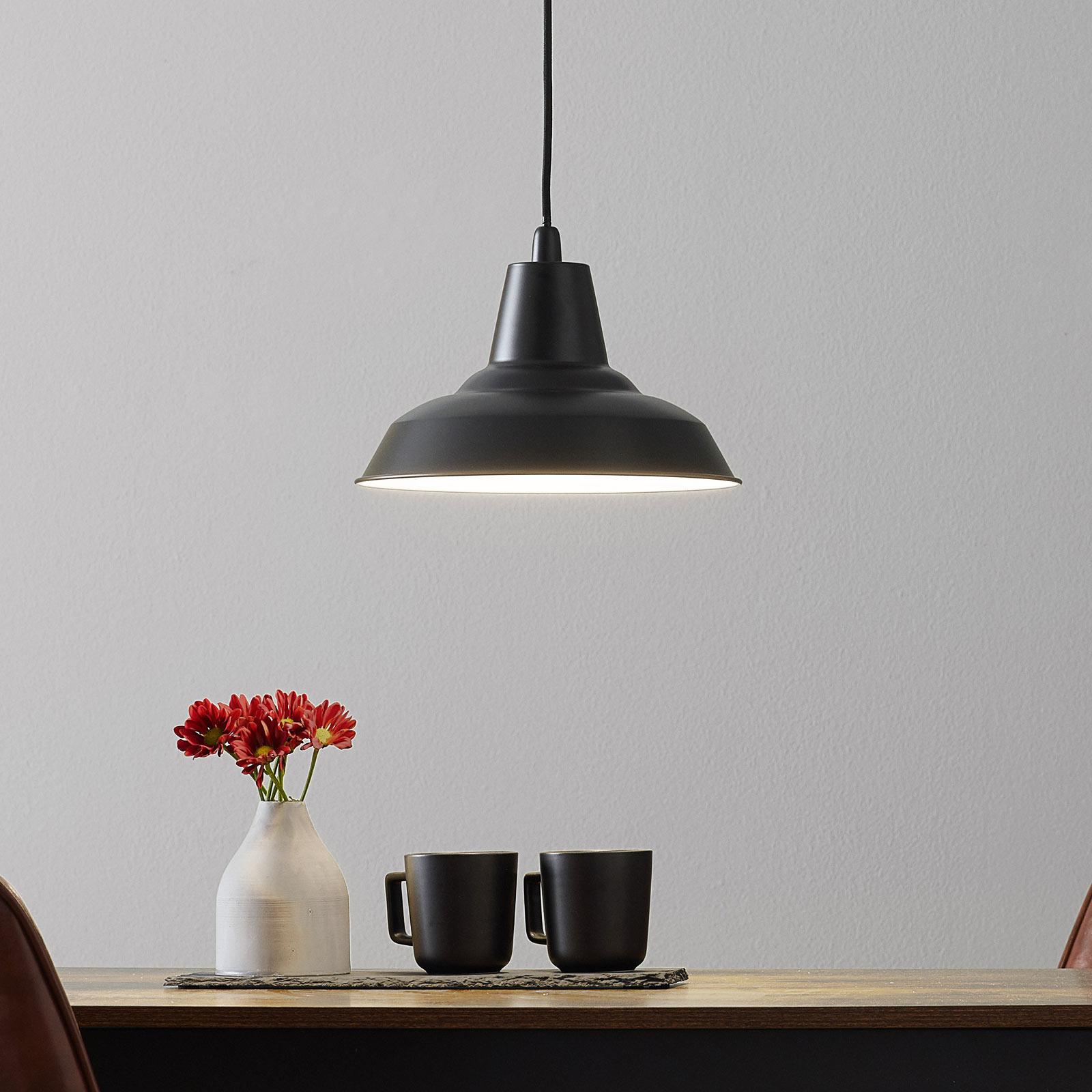 Černé kovové závěsné svítidlo Lyne