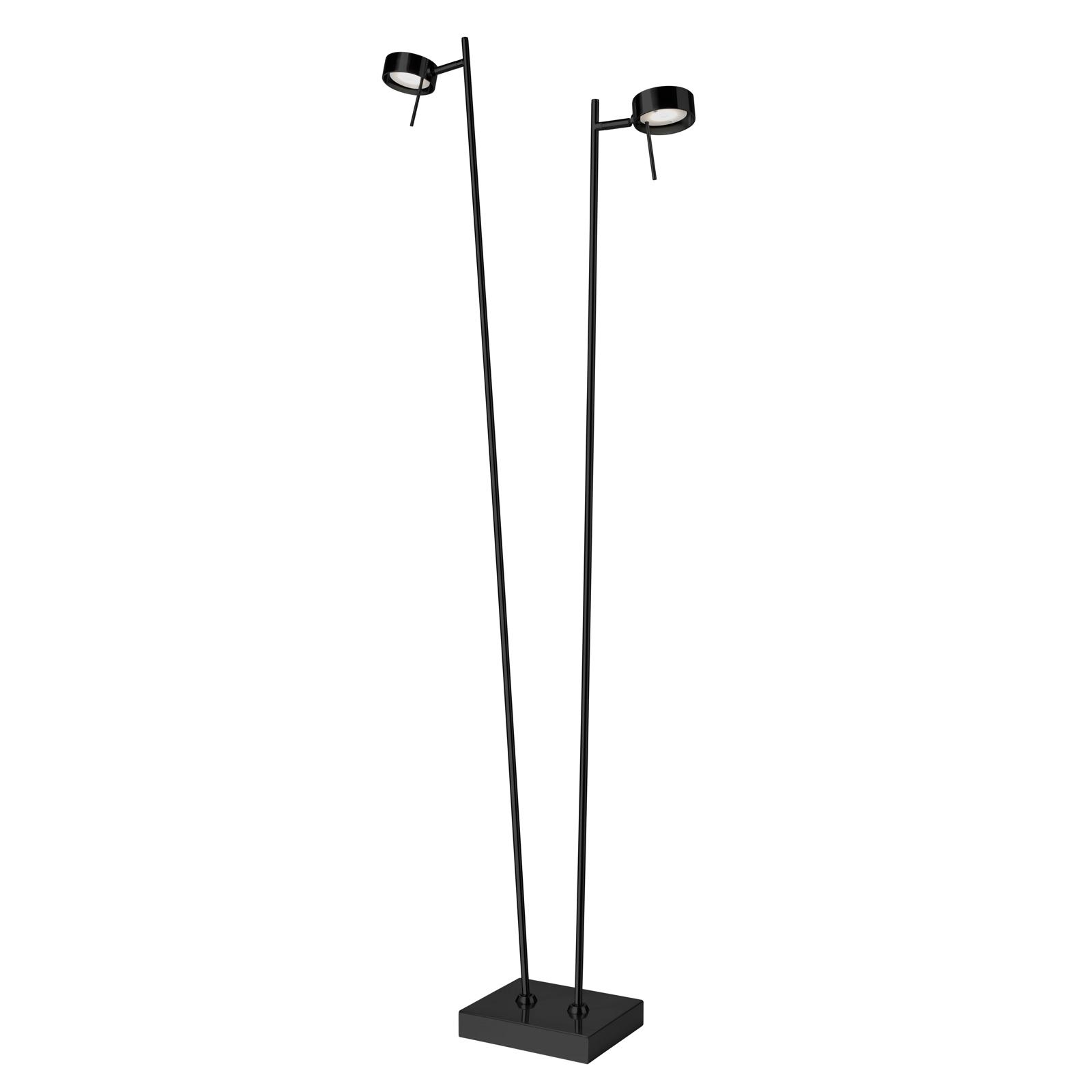 Lampa stojąca LED Bling, ściemniacz, 2-pkt. czarna