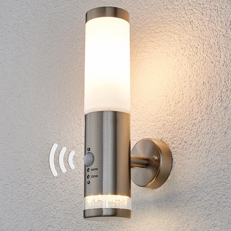 Venkovní nástěnné světlo Binka se senzorem