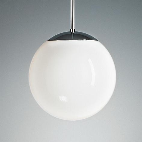 Lampada pensile con sfera opalescente