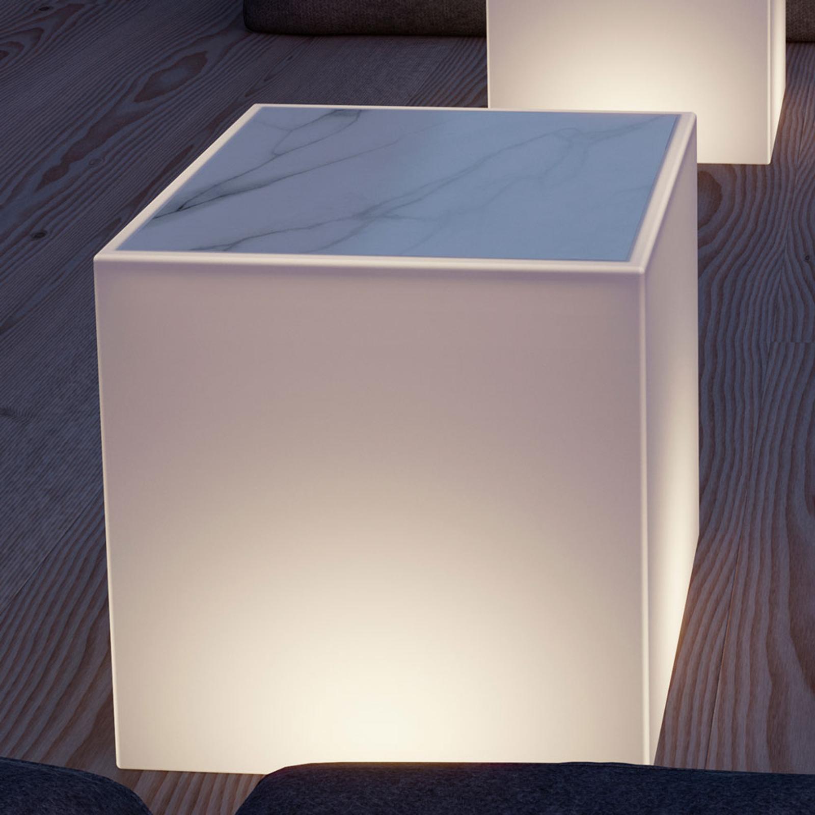 Newgarden Bora Leucht-Tisch mit Marmorplatte