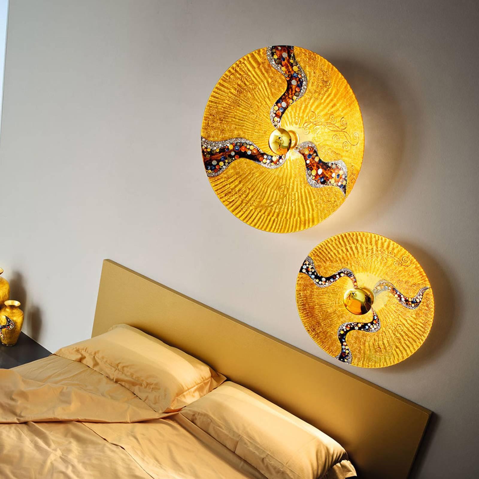 KOLARZ Luna Kiss goud wandlamp 24 kt, Ø 89 cm