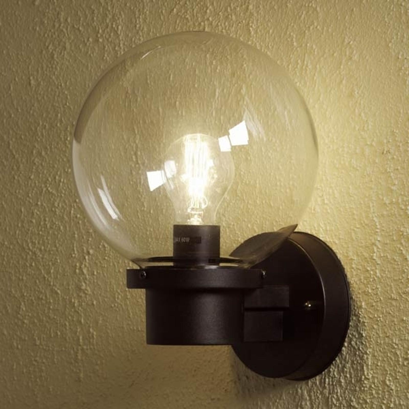 Buitenwandlamp NEMI zonder sensor, zwart