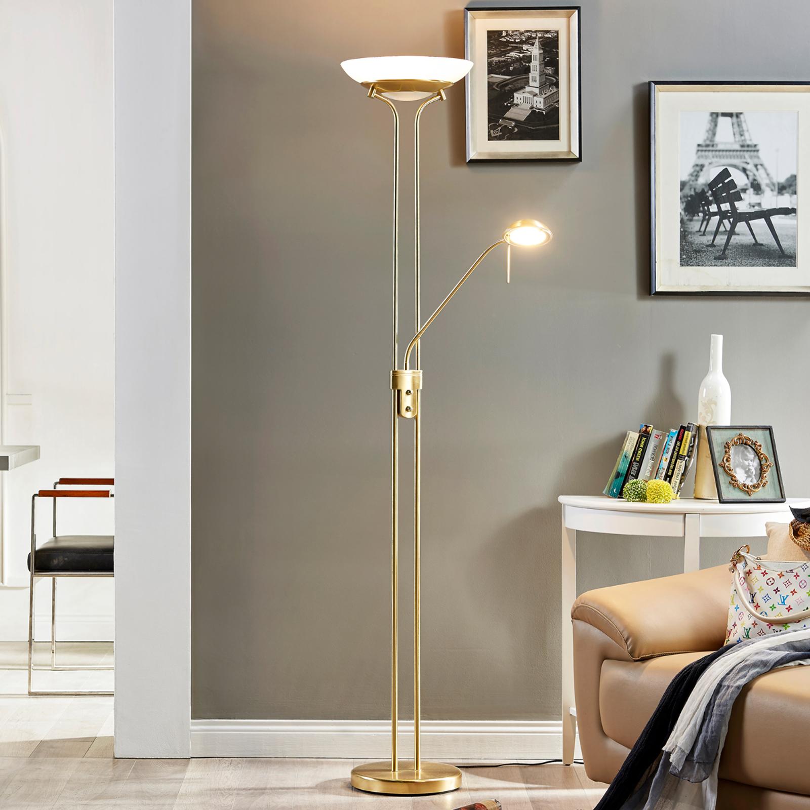 Dimbare LED plafondspot Yveta met leeslamp