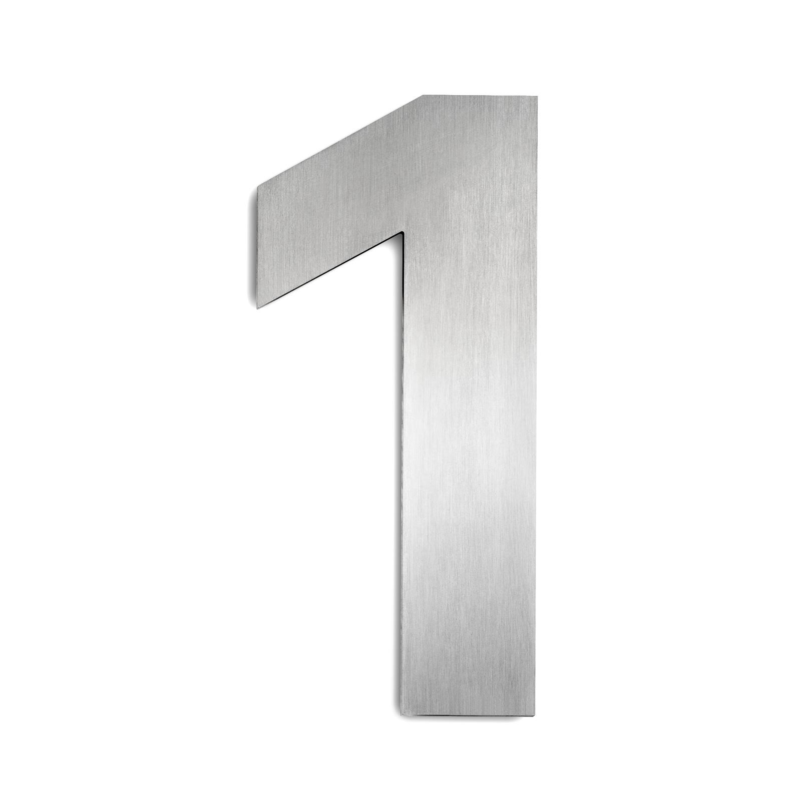Husnumre i rustfrit stål stor 1