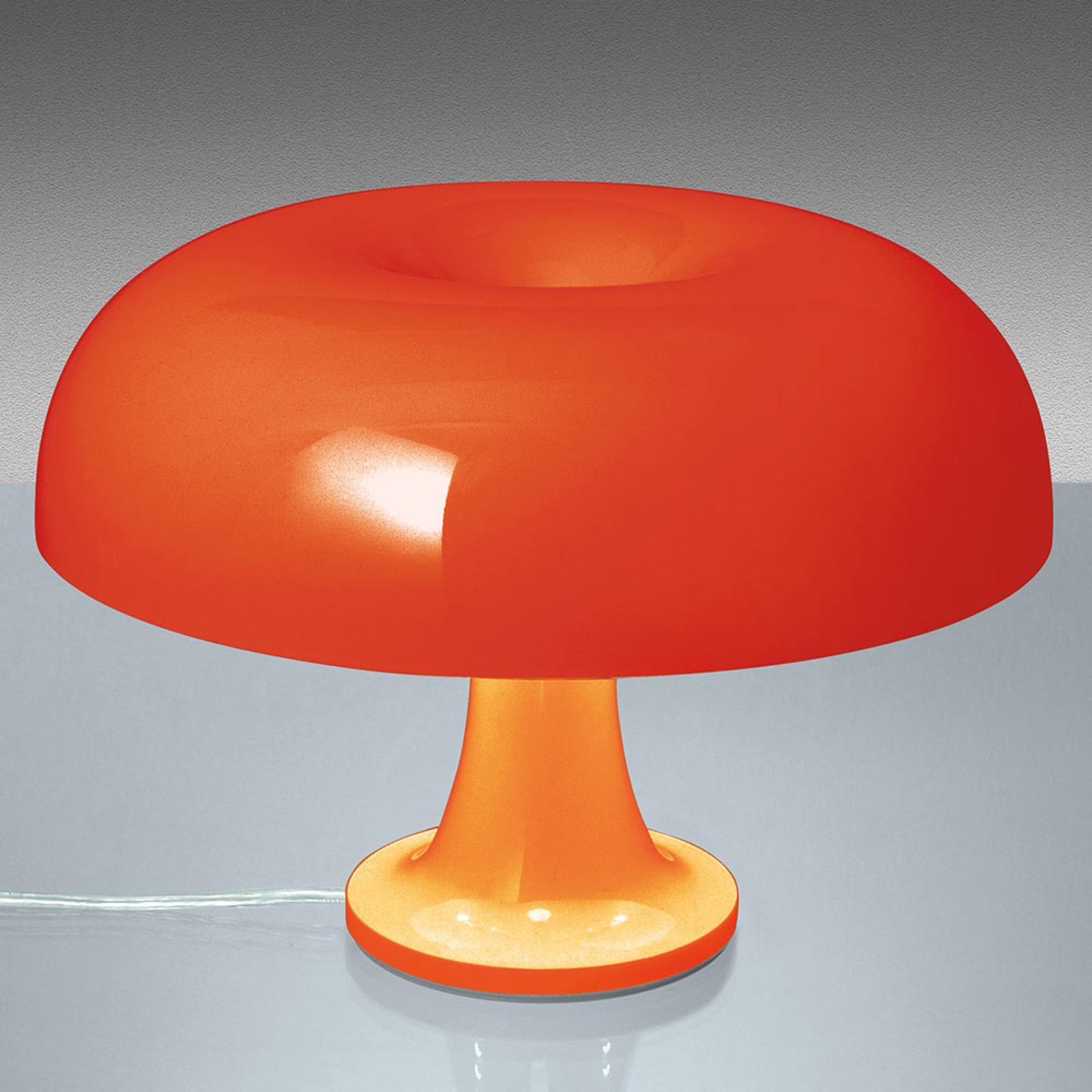 Artemide Nessino - lámpara mesa de diseño, naranja