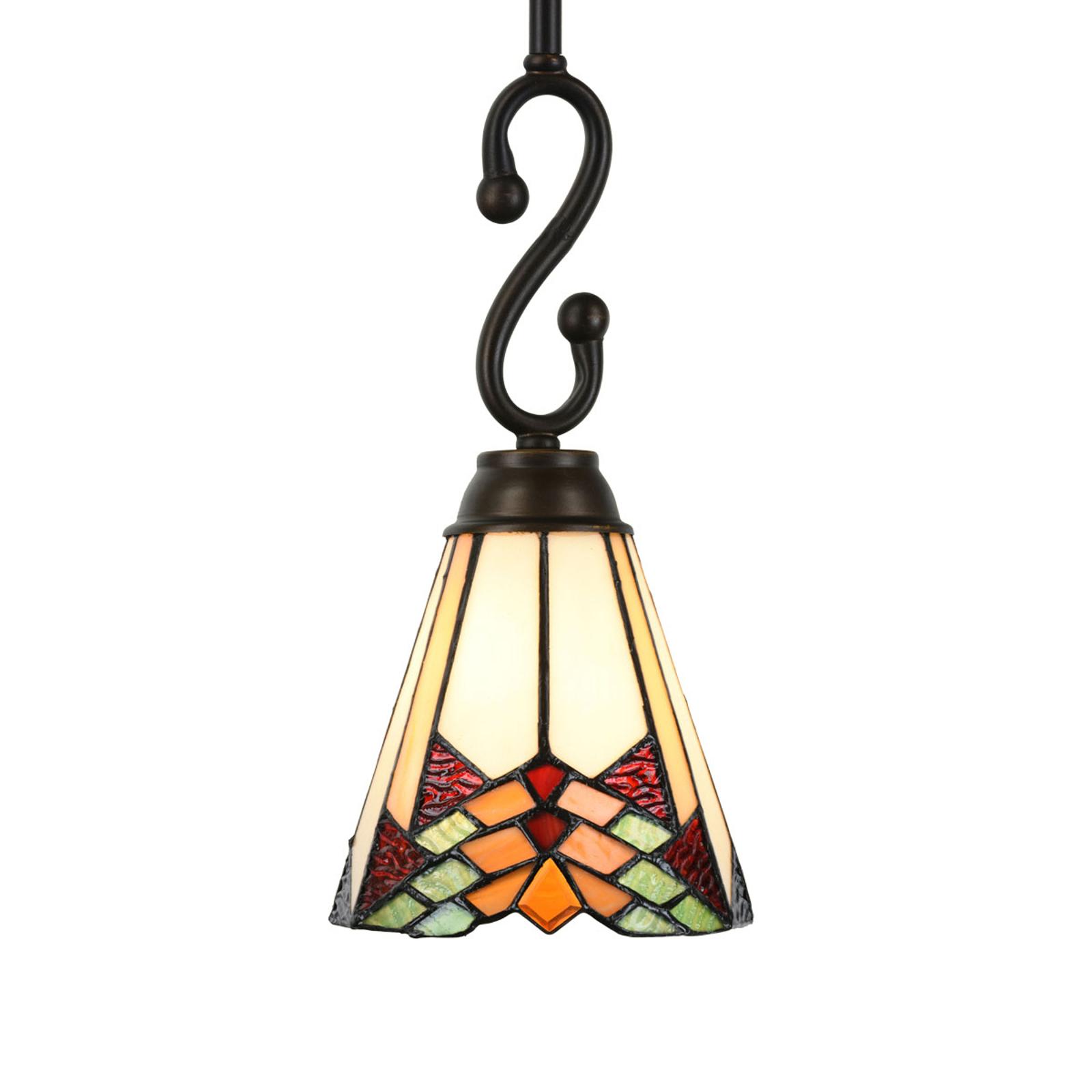 5965 hengelampe i Tiffany-design, 1 lyskilde