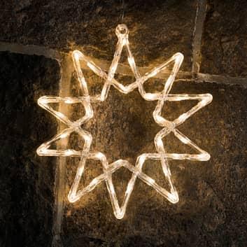 Czarująca gwiazda LED do dekoracji zewnętrznej