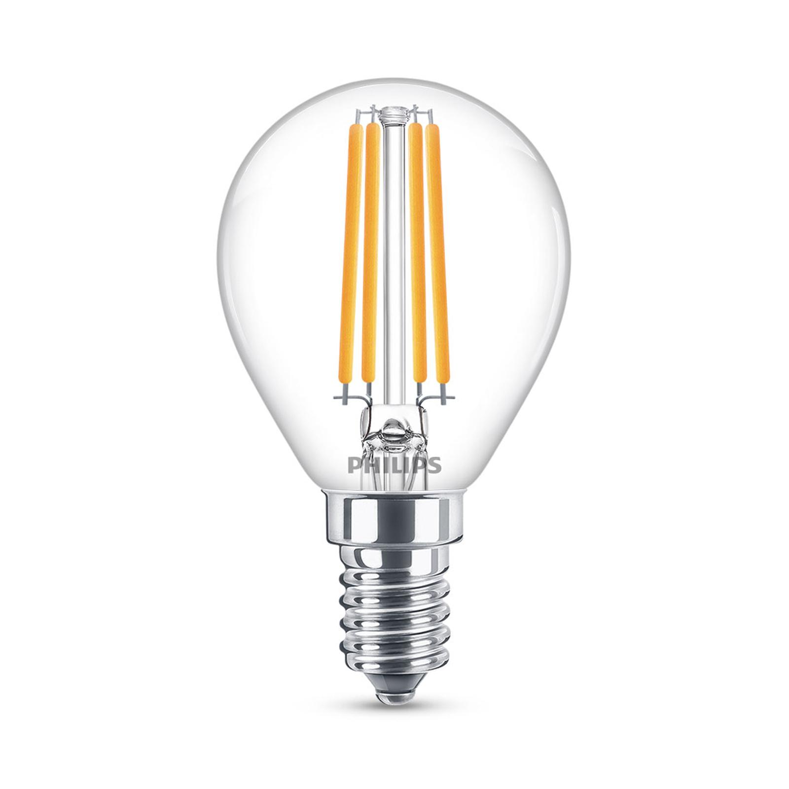 Philips Classic LED-Lampe E14 P45 6,5W 2.700K klar