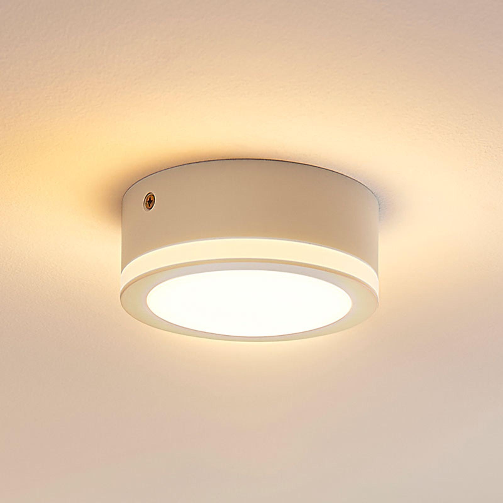 Enkel, rund LED-taklampe Quirinia