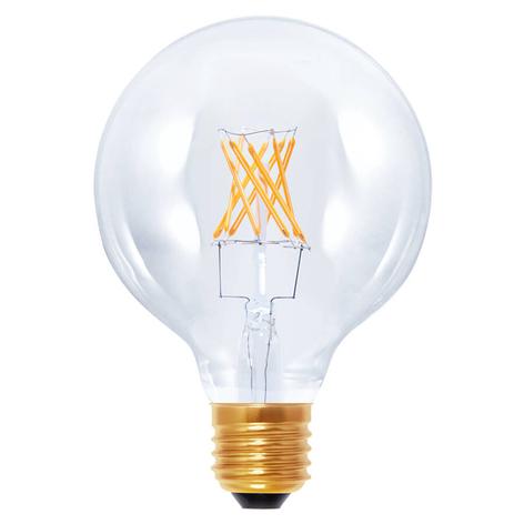 LED-pallolamppu G95 E27 6W 922 hiililangalla