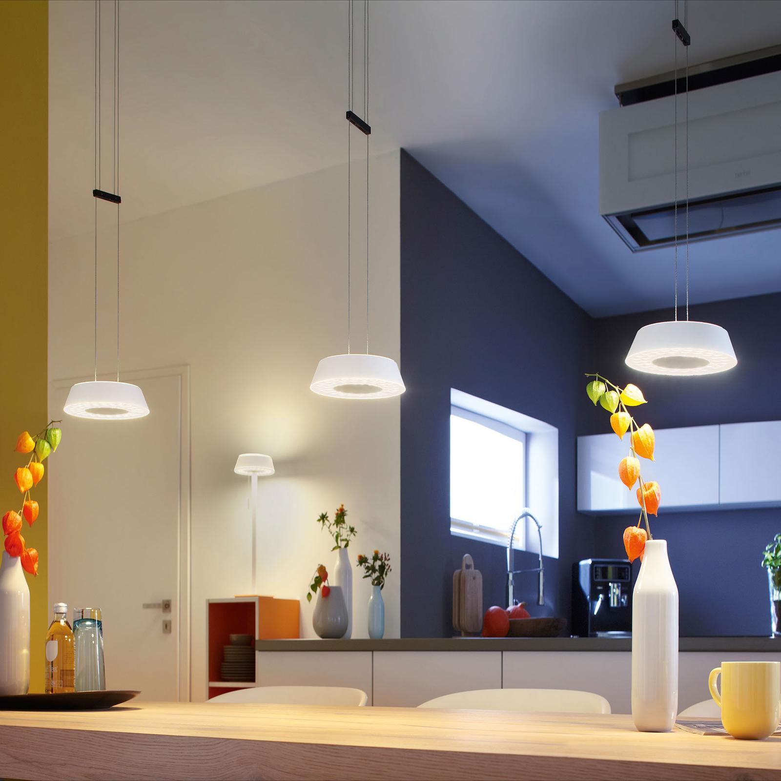 OLIGO Glance LED hanglamp 3-lamps mat wit
