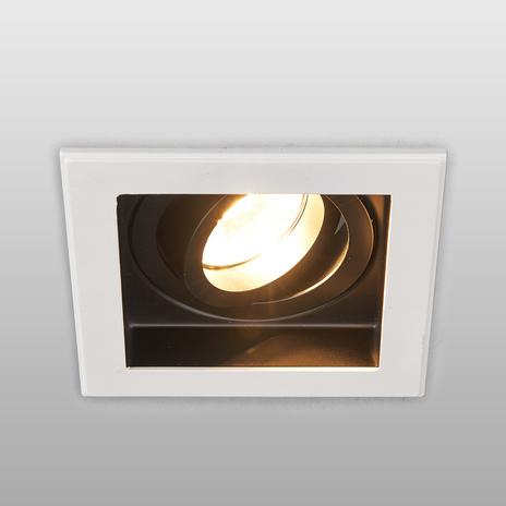 Prostokątna wysokonap. lampa wpuszczana Don, GU10