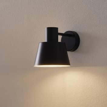 Vägglampa Dunka av metall, 1 lampa, svart