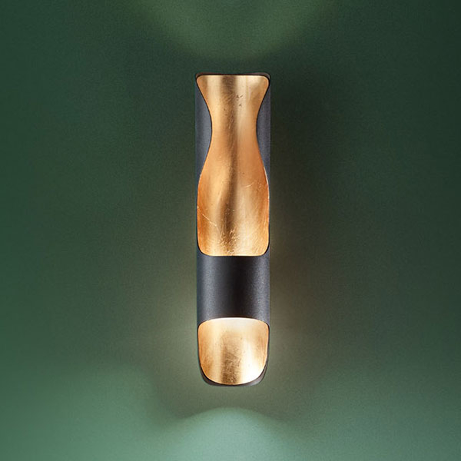 LED-Wandleuchte Kant, schwarz-gold