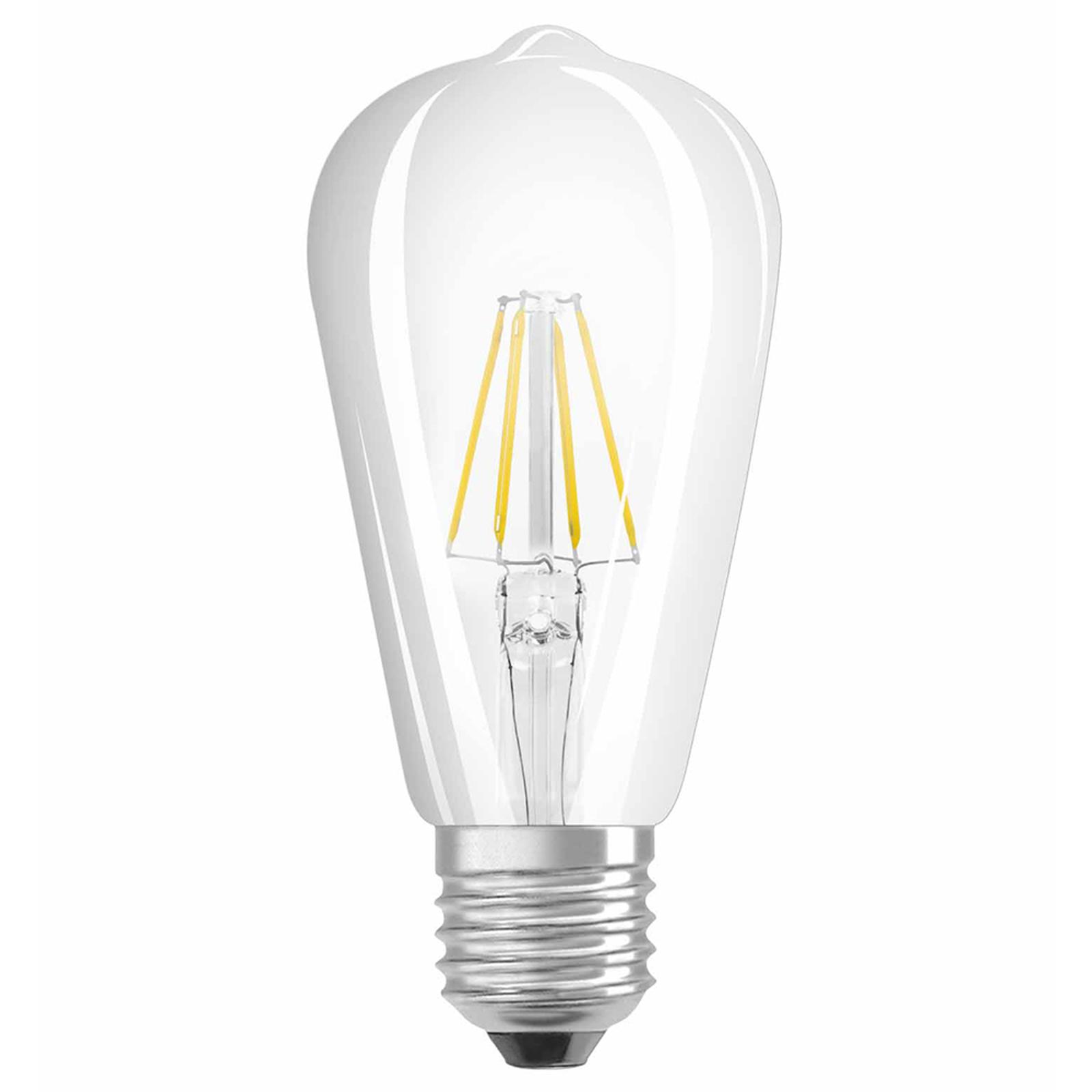 OSRAM lampadina LED E27 6,5W ST64 rustica 827