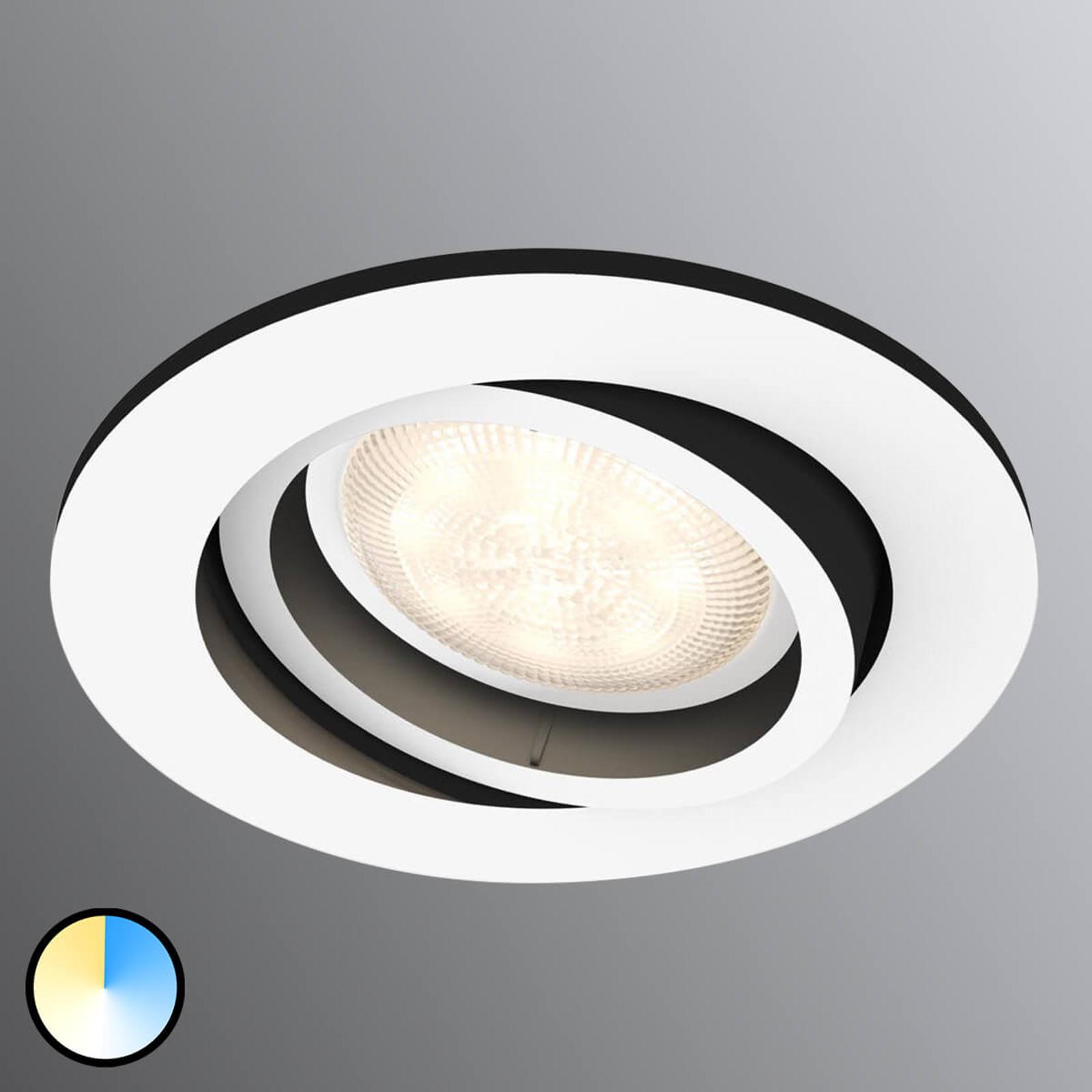 Philips Hue Milliskin LED-Einbauspot rund, weiß