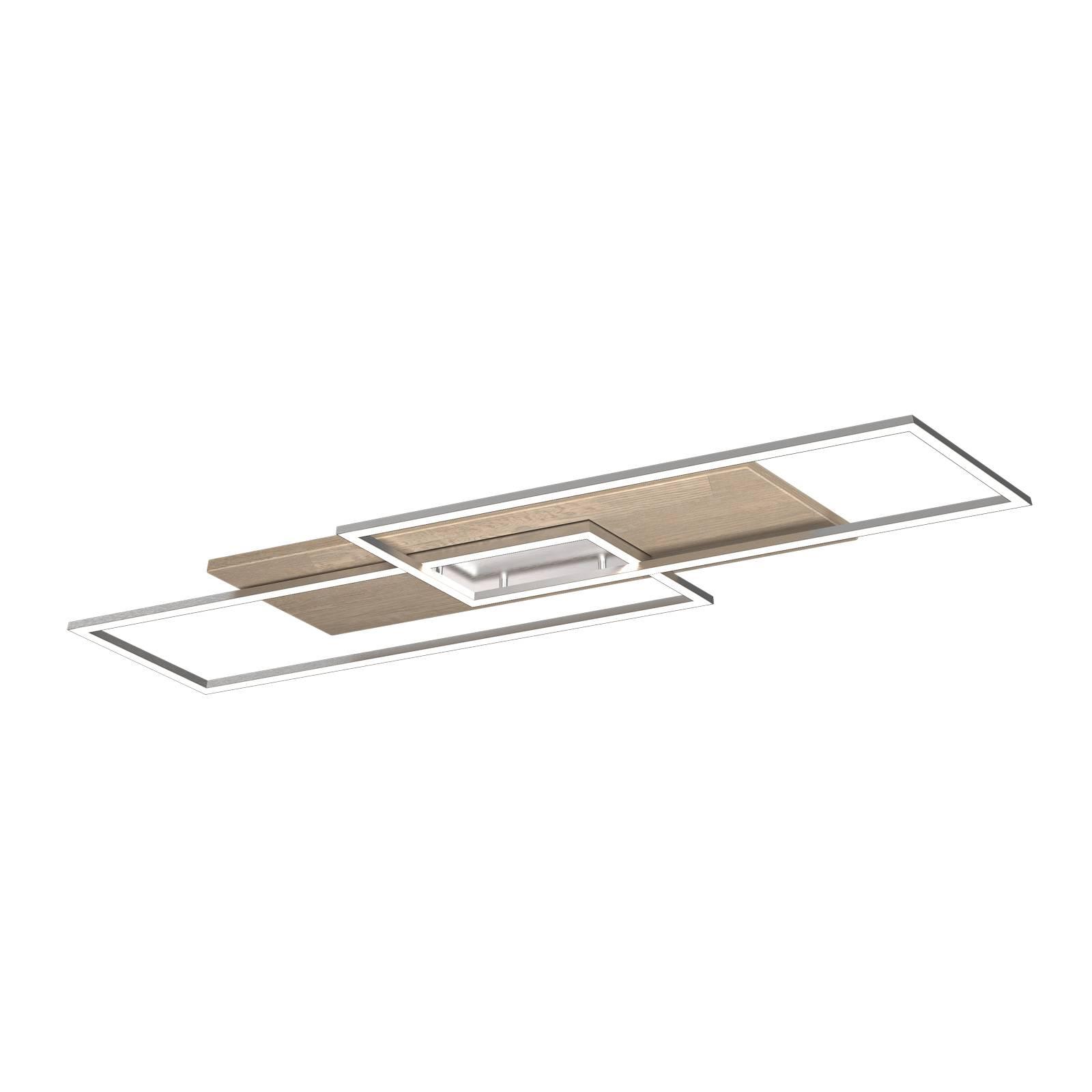 LED-Deckenleuchte Panama XL, Eiche gekalkt
