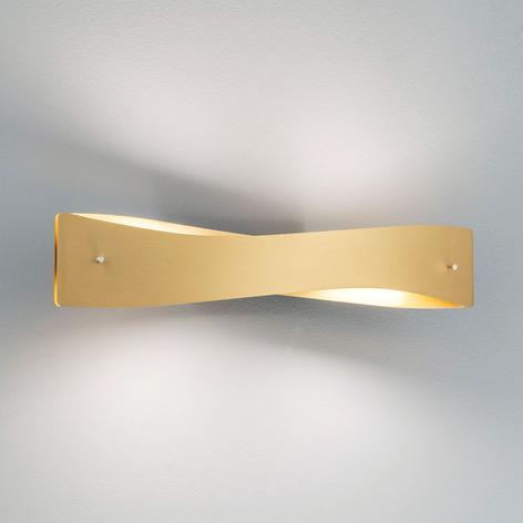 Lucande Lian LED-Wandleuchte, messing, schwarz