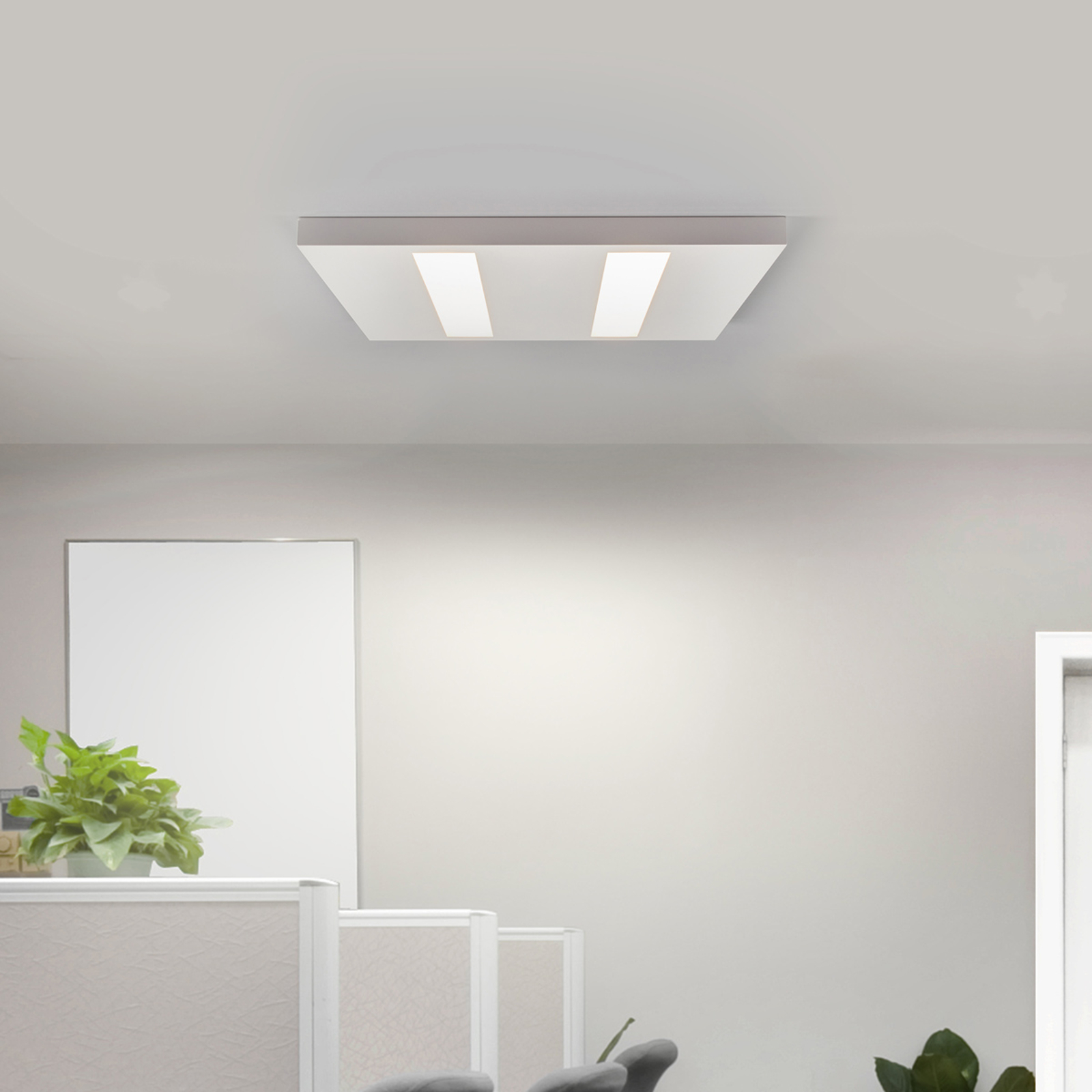 Plafonnier LED plat 37W, blanc, LED Osram