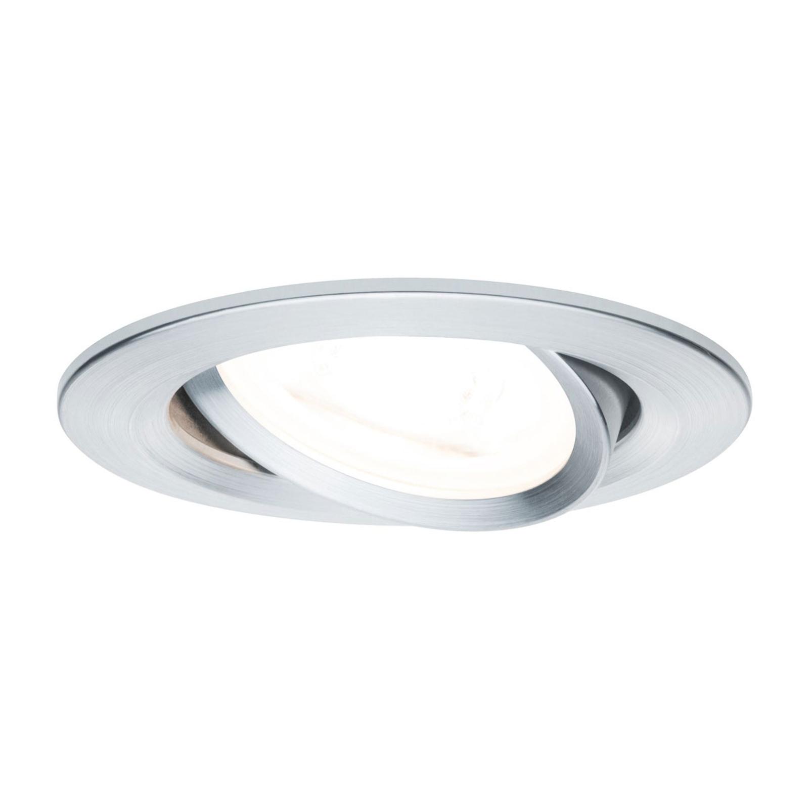 Paulmann spot Nova rund, sväng-/dimbar, aluminium