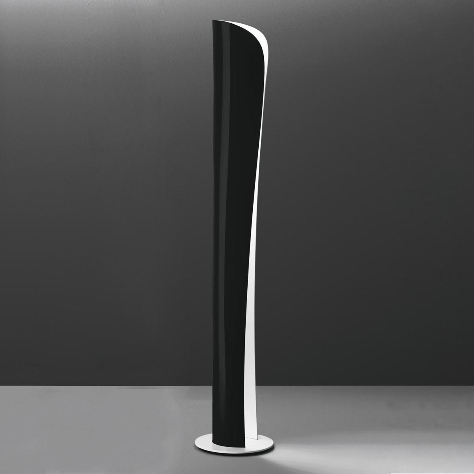 Svart-vit LED-golvlampa Cadmo, 2700K