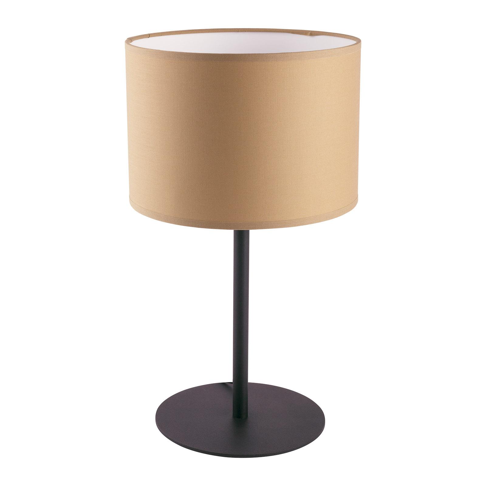 Alice bordlampe med tekstilskærm, kaffebrun