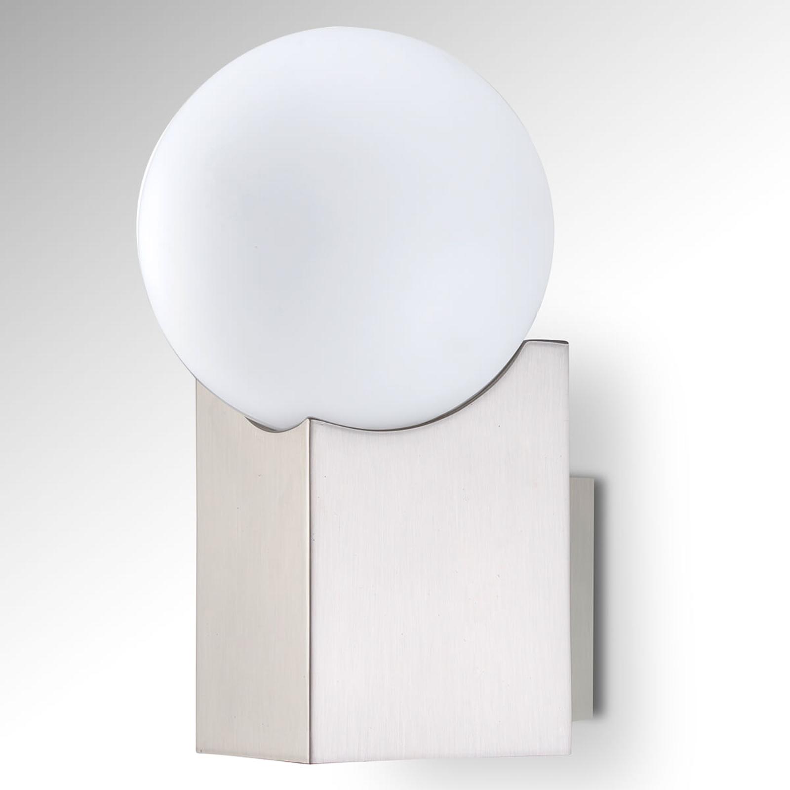 Vegglampe Cub nikkel matt