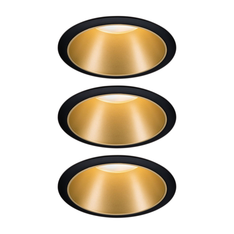 Paulmann Cole LED Spotlight in goudlook, 3per set