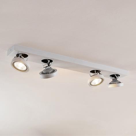 Bílé stropní světlo LED Negan, čtyřbodové