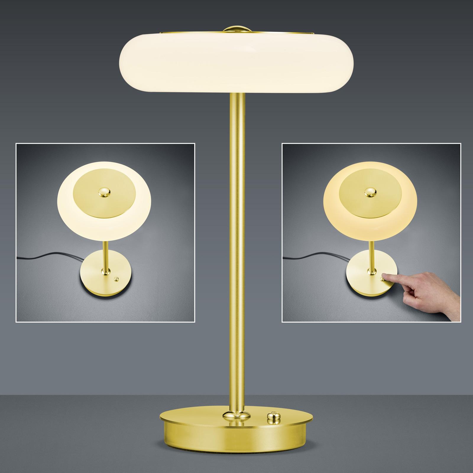 BANKAMP Centa lampe à poser LED, laiton