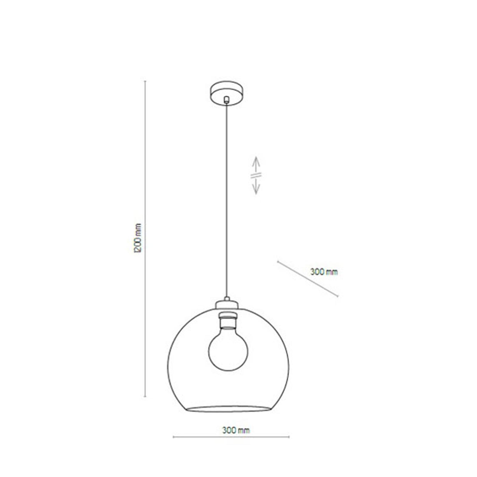 Lampa wisząca Cubus, 1-punktowa, brązowa
