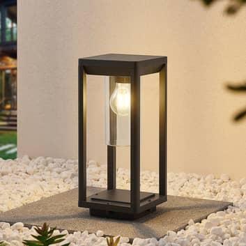 Lindby Estami sockellampa, 35 cm, mörkgrå