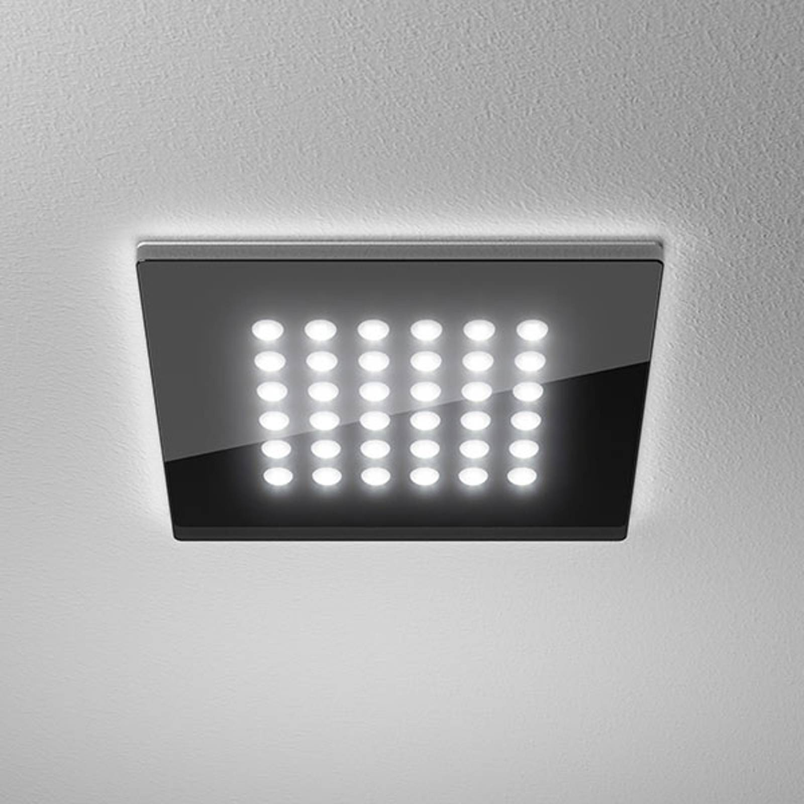 LED downlight Domino Flat Square, 16 x 16 cm, 11 W