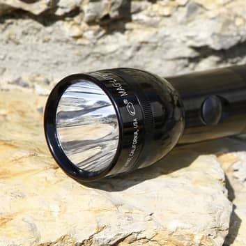 3 D-Cell Maglite LED-lommelygte, sort