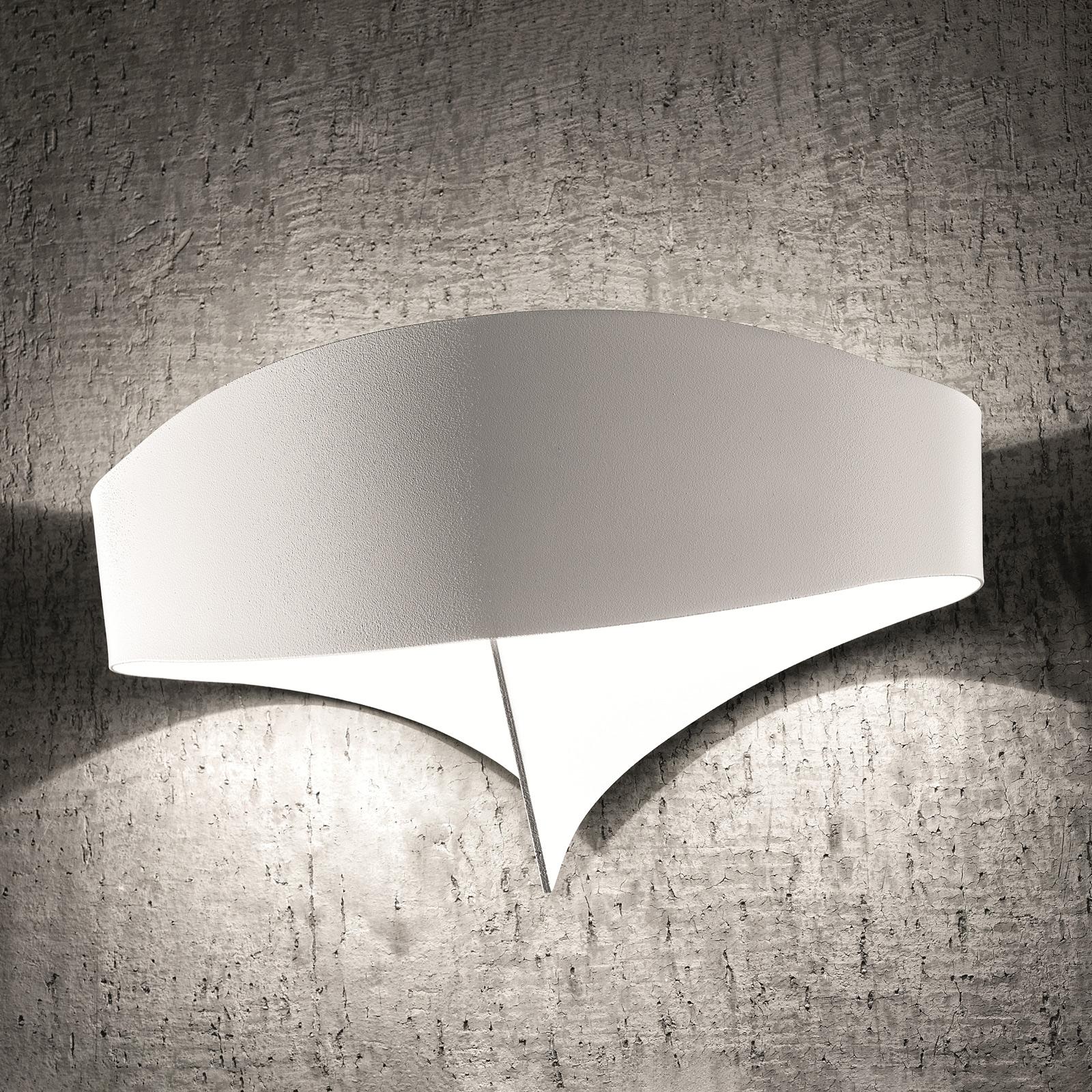 LED wandlamp Scudo van staal, wit