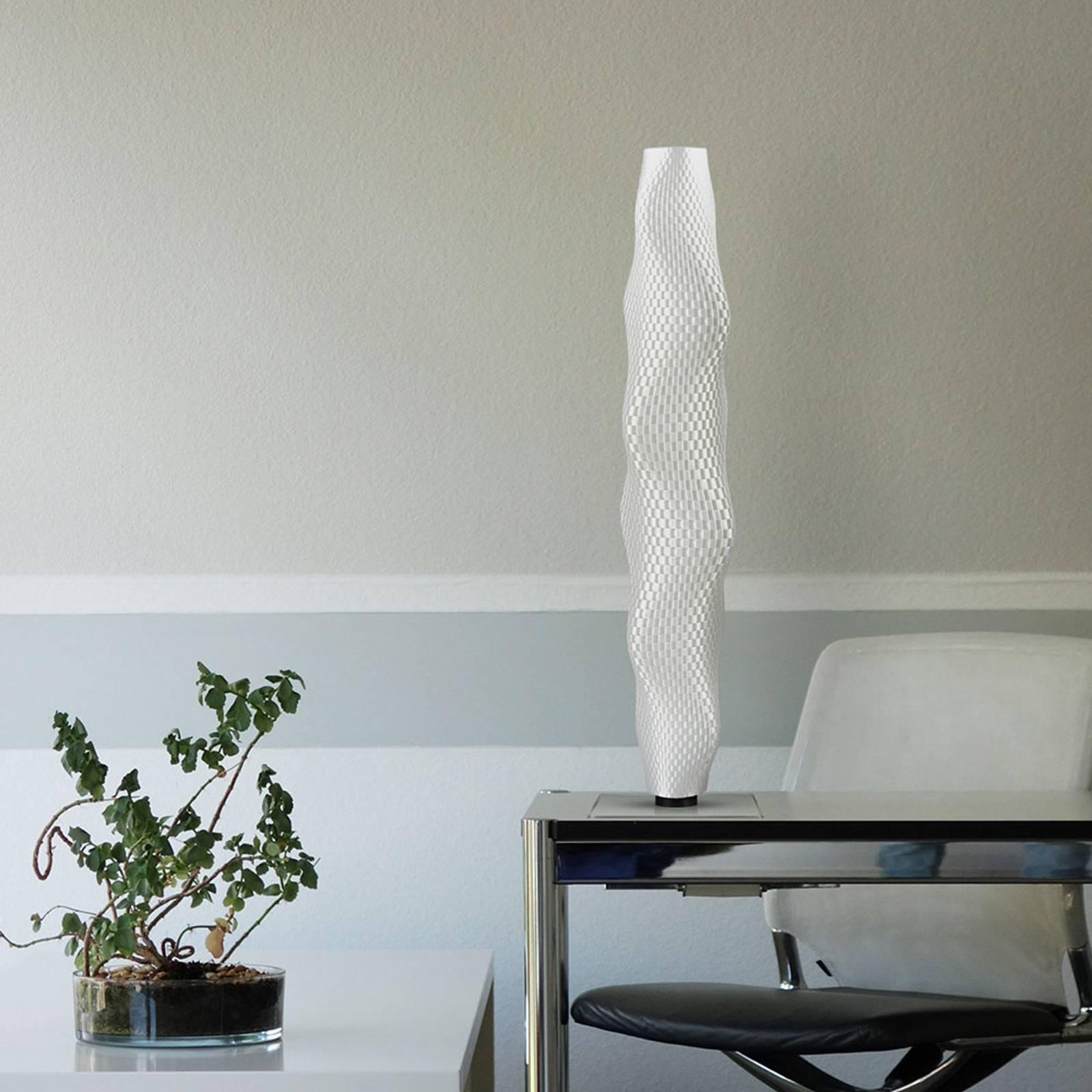 Lampa stojąca LED plecionka Kaktus 75cm, biała