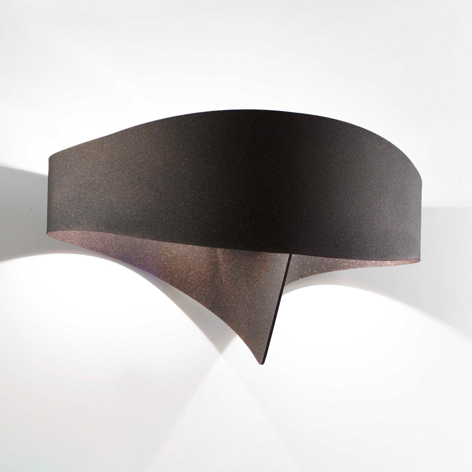 Applique LED Scudo en acier, bronze