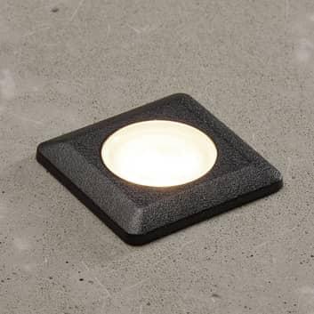Innbyggingslampe Teresa kantet svart/frost 3000K